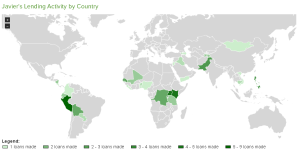"My ""Lending by Country"" map."