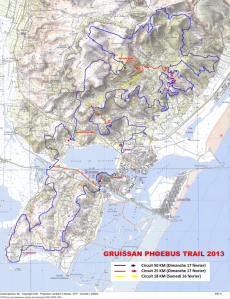 Trailhounet circuit around Gruissan.