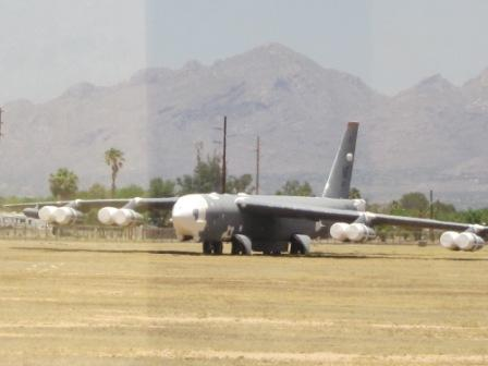 B-52 Stratofortress without horizontal tail plane.