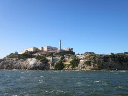 Up close view of Alcatraz.