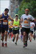Running at some point of San Diego marathon.