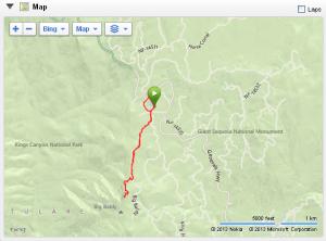 Run from Montecito Lodge to Big Baldy.