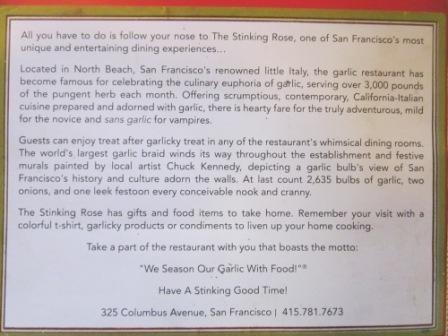Description of the restaurant.