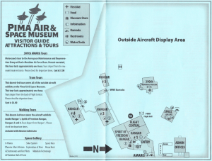 Pima Air and Space Museum map.
