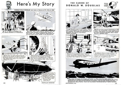 Douglas career (source: Popular Science magazine, October 1940).