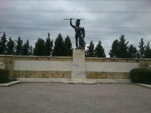 Statue of King Leonidas.