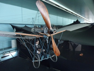 Model of Alberto Santos Dumont's Demoiselle (1908).