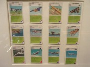 "Aviation related cards to play ""Quartett"", a game originated in Germany to play in family."