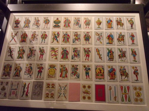 Sets of Heraclio Fournier palying cards (printed in Vitoria, Spain).