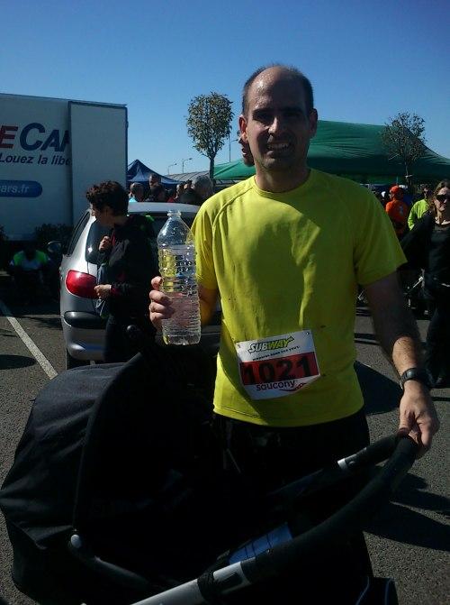 After finishing Blagnac's half marathon.