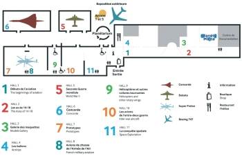 Plan of the museum.