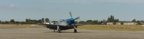 North American P-51 Mustang taxiing.