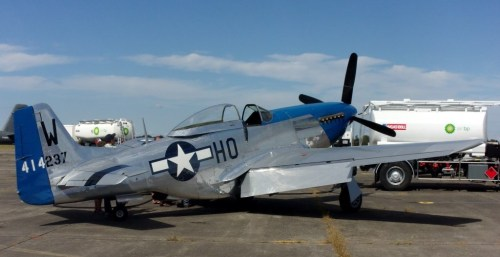 North American P-51 Mustan in static display.