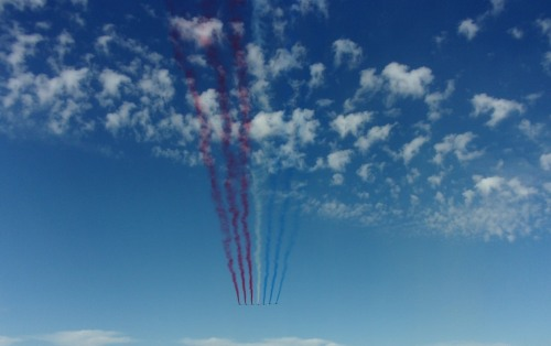 La Patrouille de France, beginning of the show.