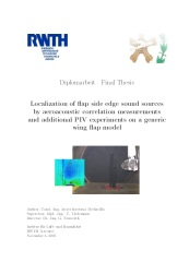 Master thesis front page.