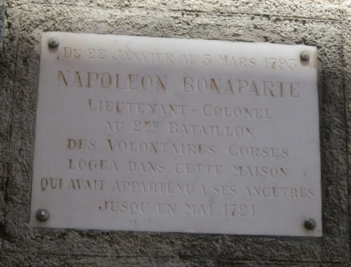Place where Napoleon stayed.