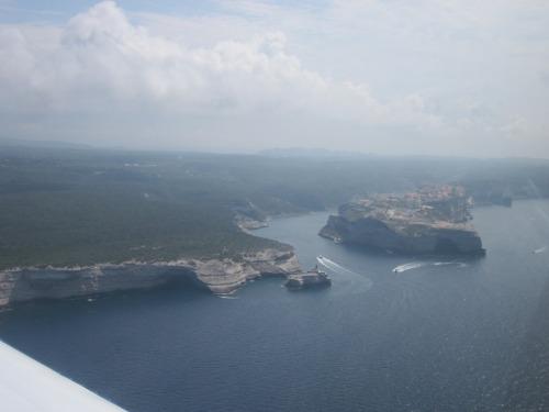 Approaching Bonifacio.