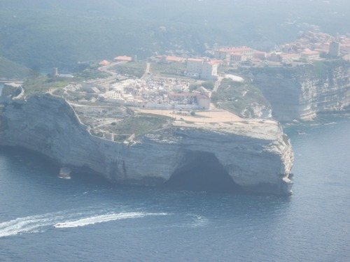 """Napoleon's hat"" cave from the air."
