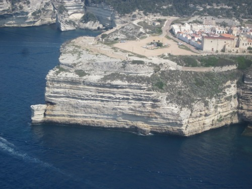 "Film location of ""The Guns of Navarone"" from the air."
