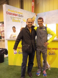 With elite runner Pablo Villalobos.