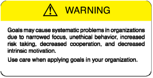 Goals Gone Wild Warning Signal.