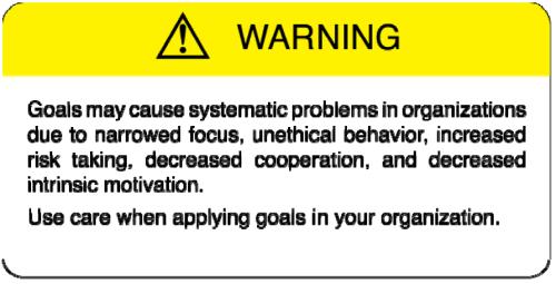 Goals Gone Wild Warning Signal.