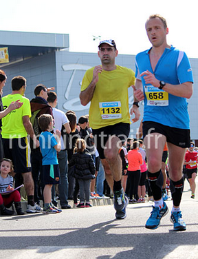 Final sprint at Blagnac half marathon.