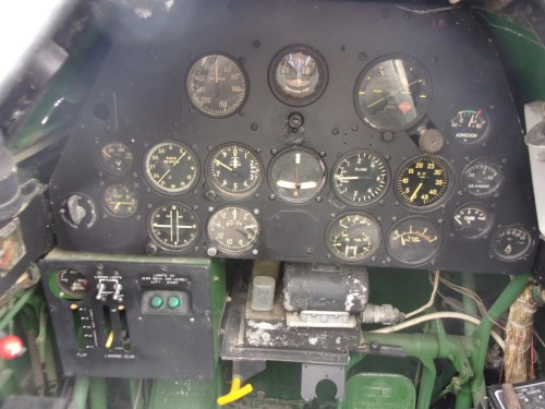 Dashboard of a North American T-6G Texan.