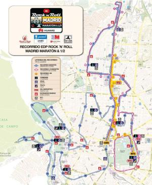 Madrid marathon route.