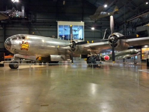 "Bockscar, the B-29 which dropped ""Fat Man"" atomic bomb over Nagasaki on August 9, 1945."