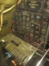 Flight engineer's panel of a B-29.