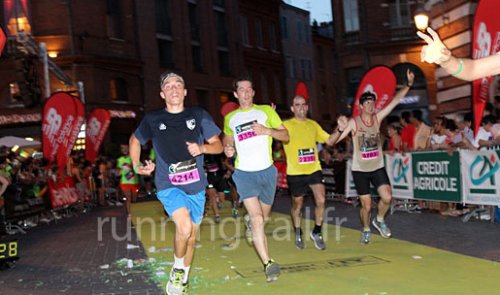 Jose and I running the last metres (right side of the photo).