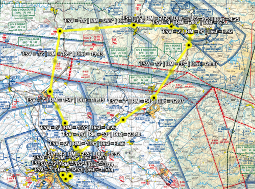 Route planned for my grand navigation solo.