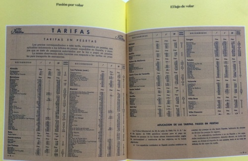 Iberia's flight schedules and prices applicable on 1951.