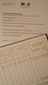 Provisional attestation and log book.