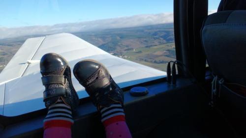 Andrea's feet.
