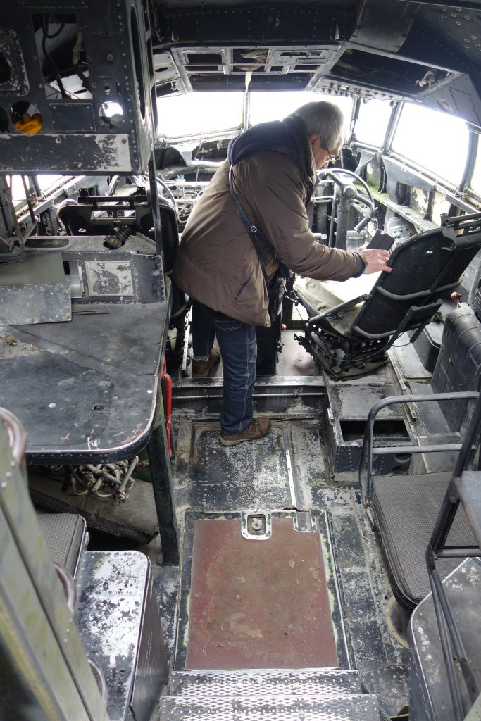 Cockpit of Breguet 765 Sahara.