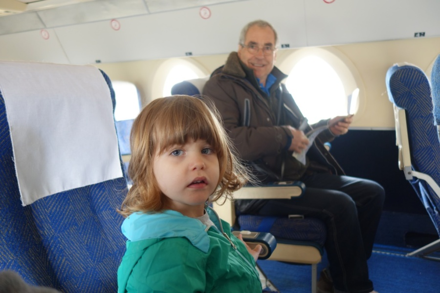 Seated on a Sud Aviation Caravelle.